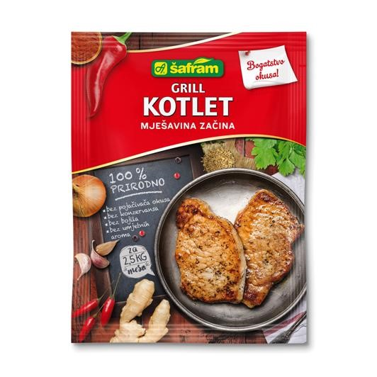 Grill cutlet mixture of spices
