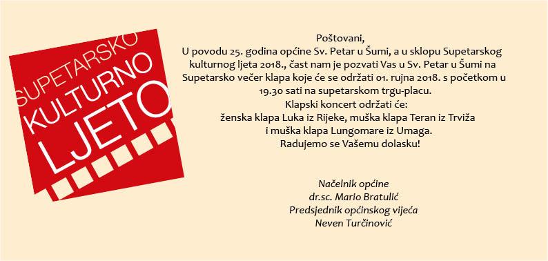 SUPETARSKA VEČER KLAPA 2018.