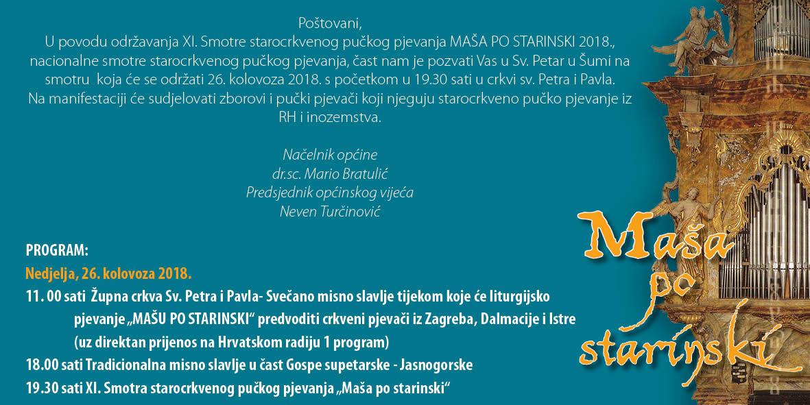 MAŠA PO STARINSKI 2018.