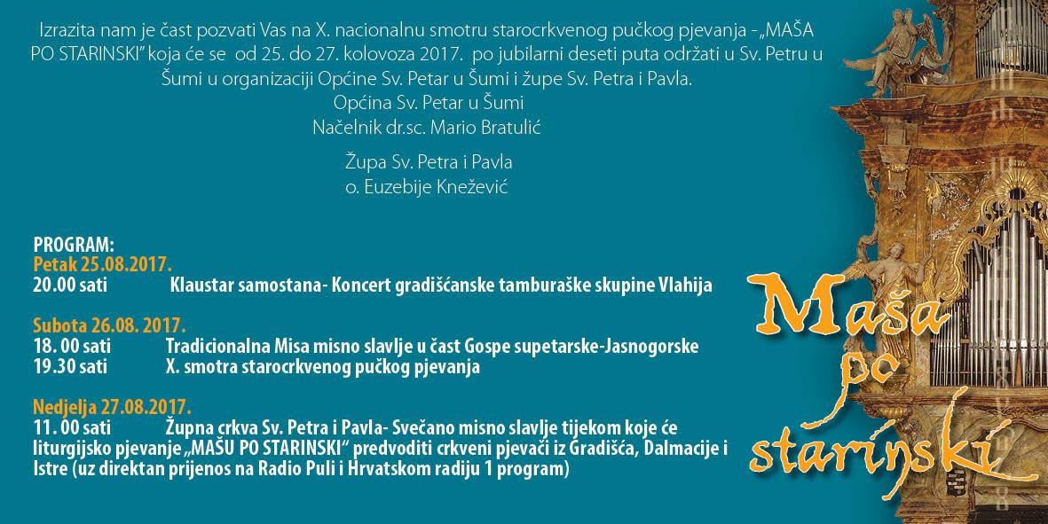 MAŠA PO STARINSKI 2017.
