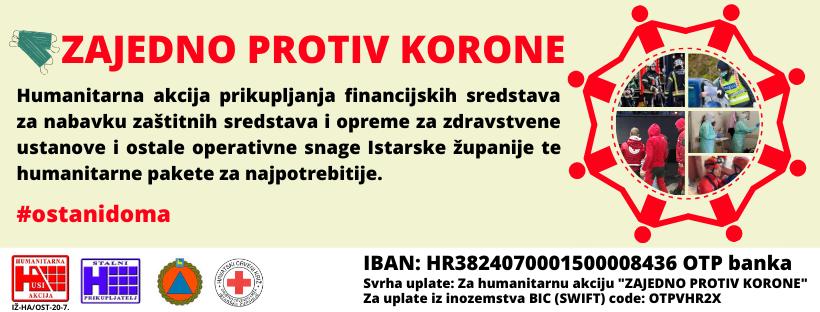 """Humanitarna akcija """"Zajedno protiv korone""""."""
